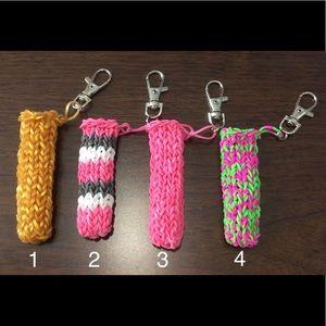 Accessories - Handmade Chapstick Holder Keychains